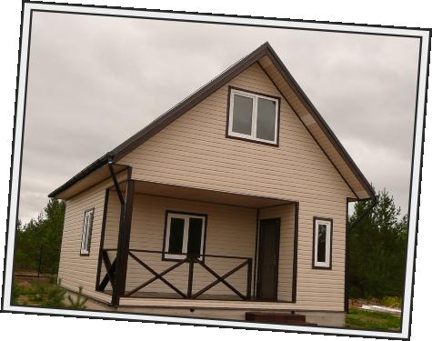 Дачный каркасный дом
